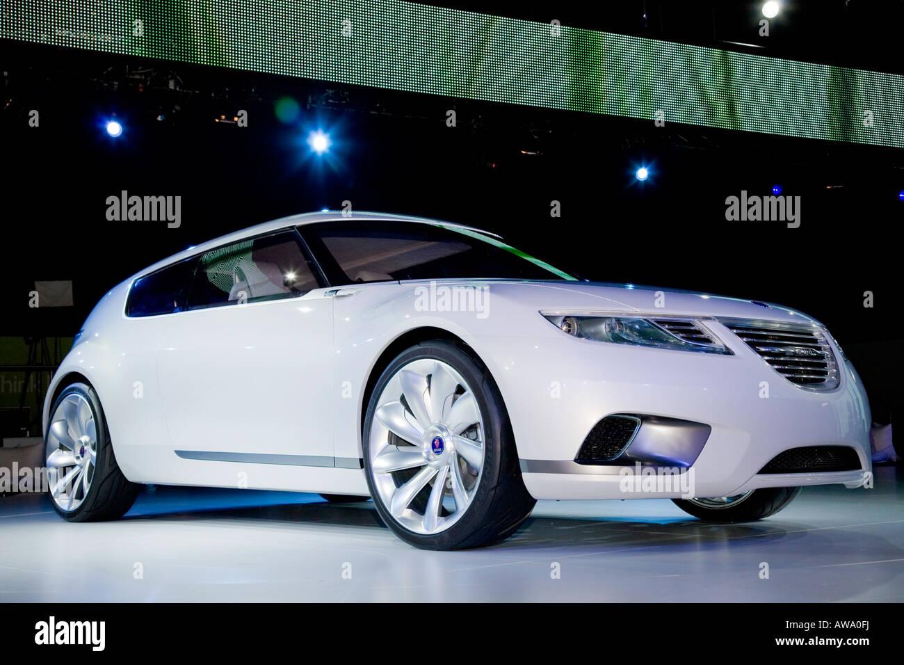 GM's Saab 9-X BioHybrid concept launch - Stock Image