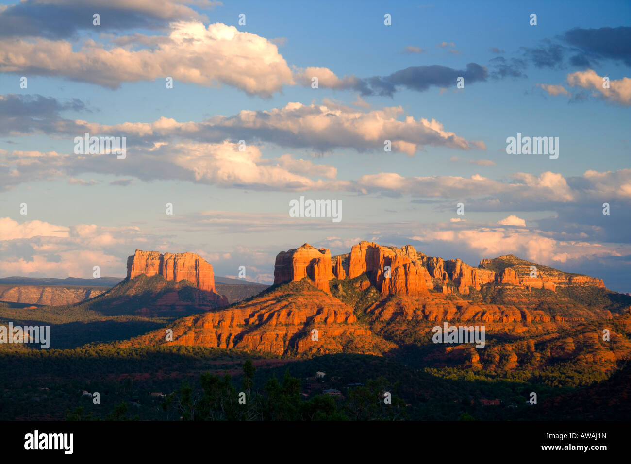 Red Rocks at sunset - Stock Image