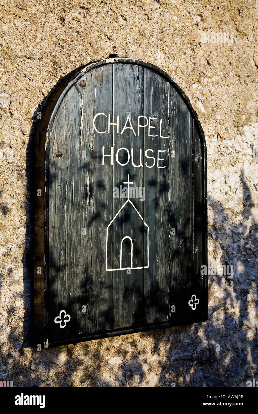 Chapel House sign - Stock Image
