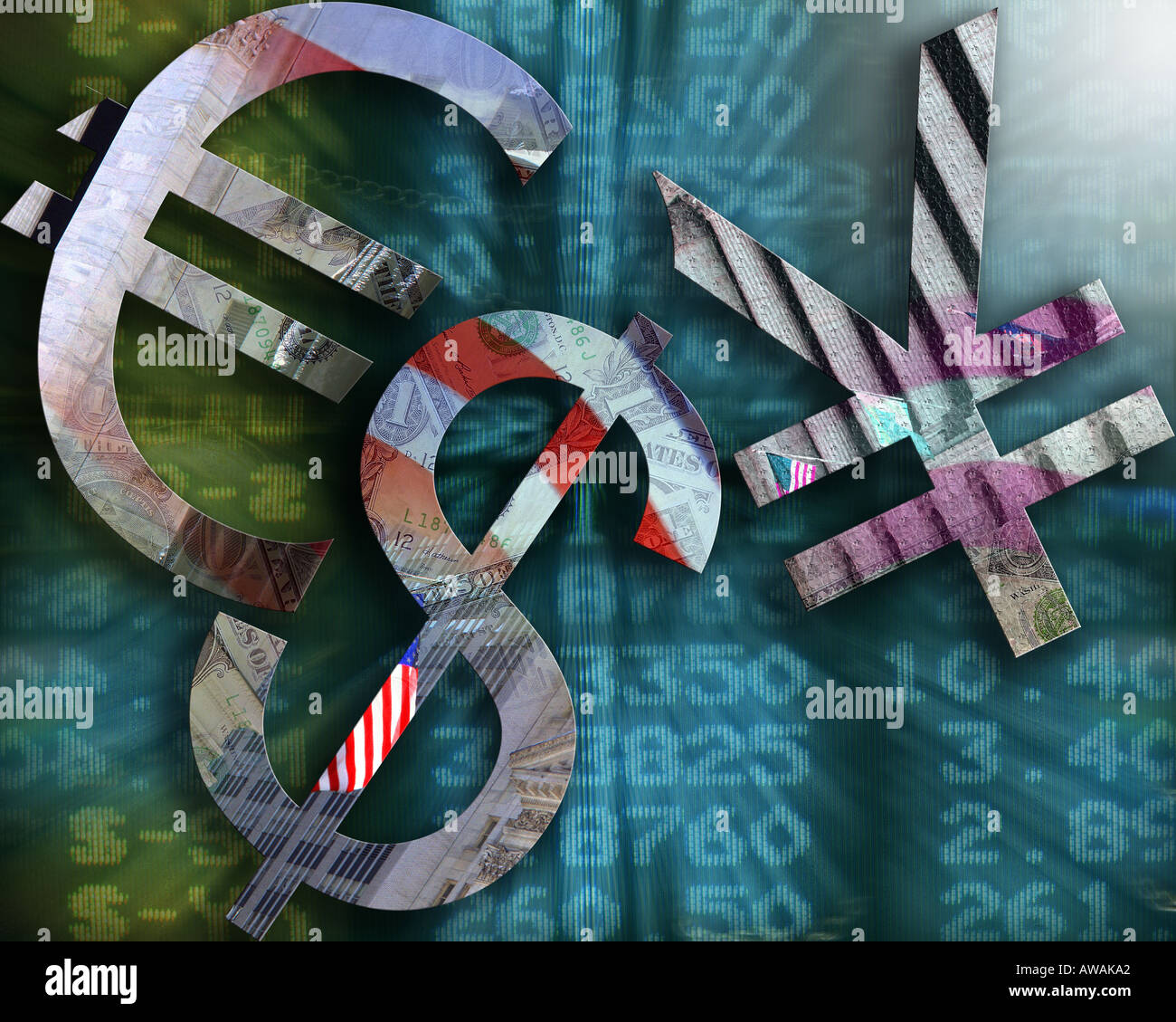 FINANCIAL CONCEPT:  International Currency Market - Stock Image