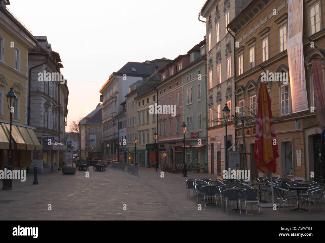Alterplatz at sunrise Klagenfurt Austria - Stock Image