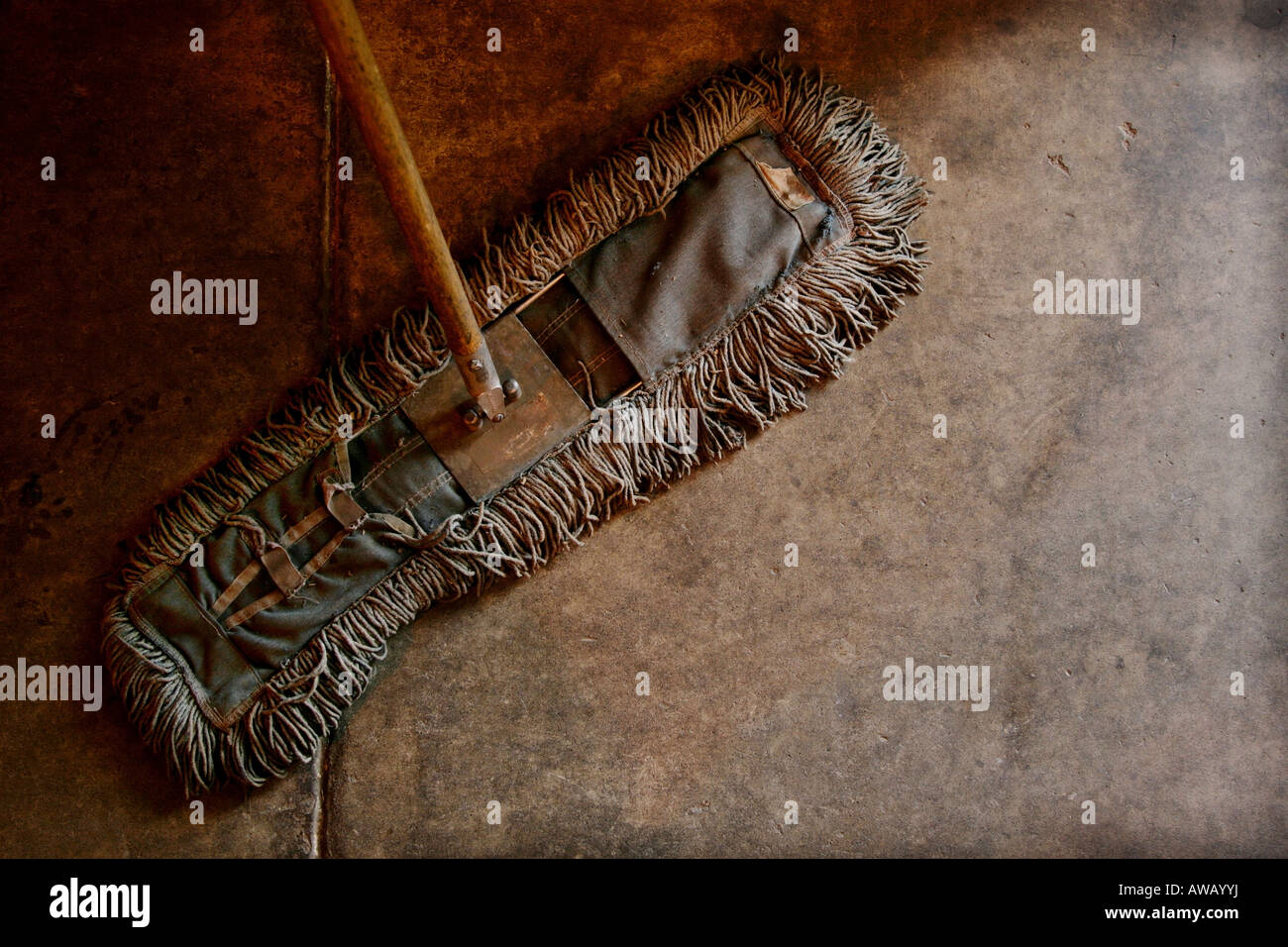 A dirty mop - Stock Image