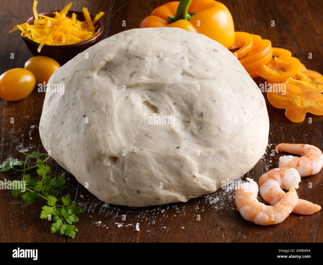 Gluten free dough - Stock Image