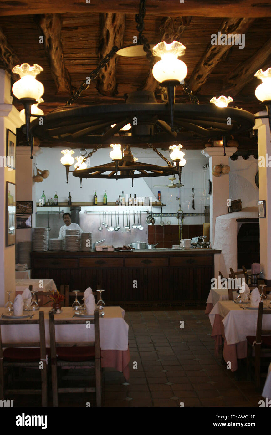 Celler Can Pere Restaurant in Santa Eulalia, Ibiza - Stock Image