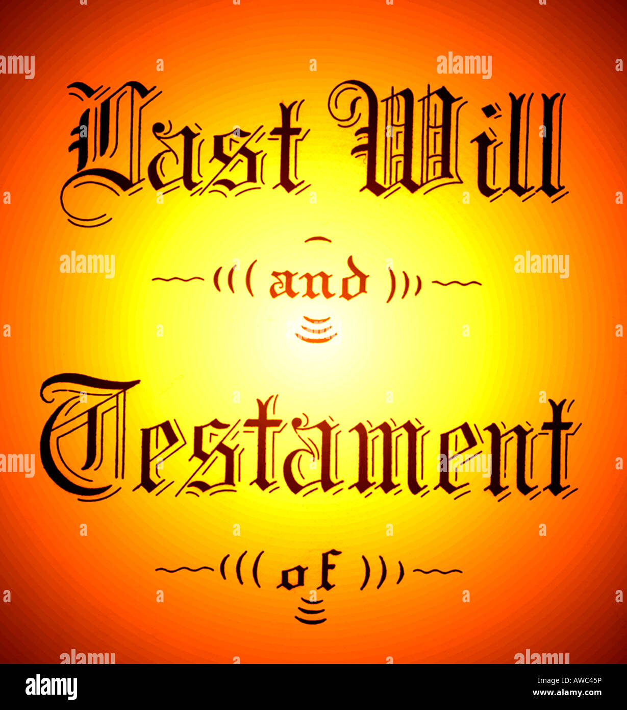 last will and testament legal document - Stock Image