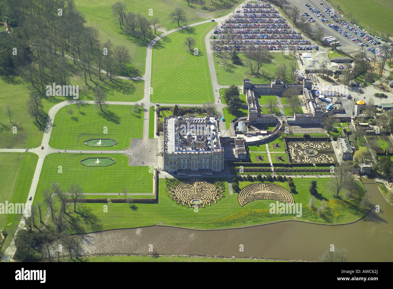 Aerial view of longleat house shown with it 39 s formal for The tuxedo house
