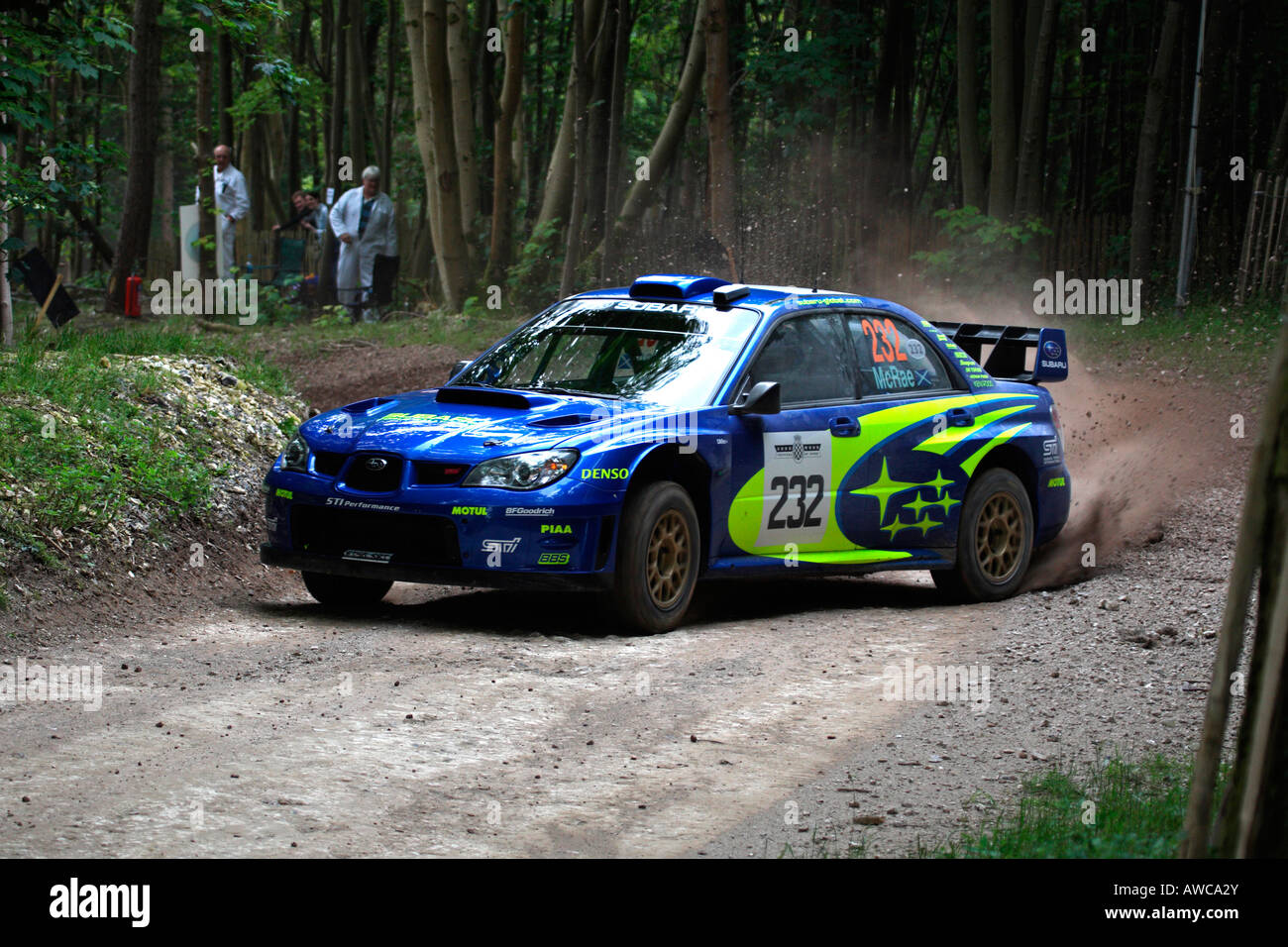 Colin McRae Subaru Impreza Rally Car Cornering Goodwood Festival Of