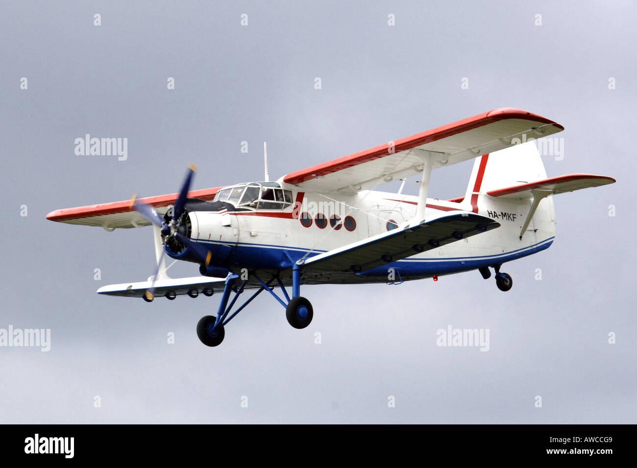 Russian Antanov AN2 Transport Bi plane - Stock Image