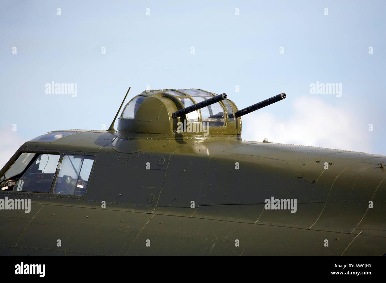 Top gun turret of B17 flying fortress Sally B Duxford aerodrome UK - Stock Image