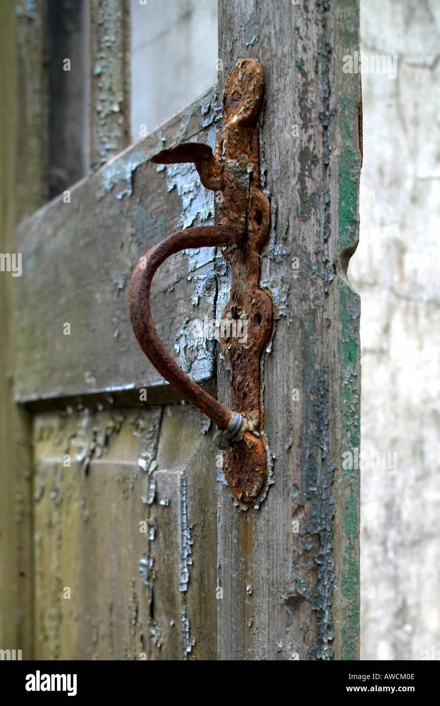 rusted door handle at Purandar Fort Vajragadh Pune Bombay Mumbai Maharashtra India - Stock Image & Rusted Door Stock Photos u0026 Rusted Door Stock Images - Alamy