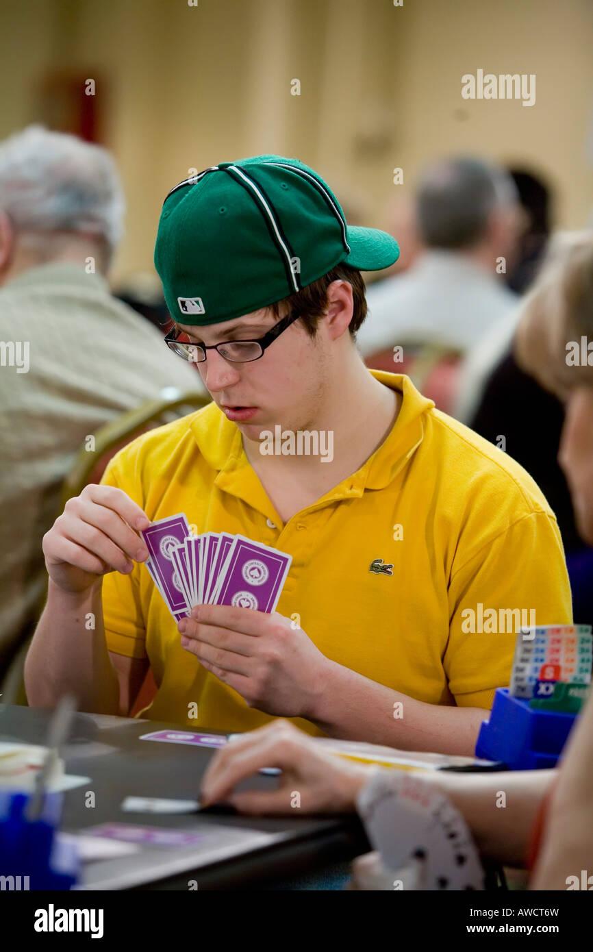 Duplicate bridge tournament - Stock Image
