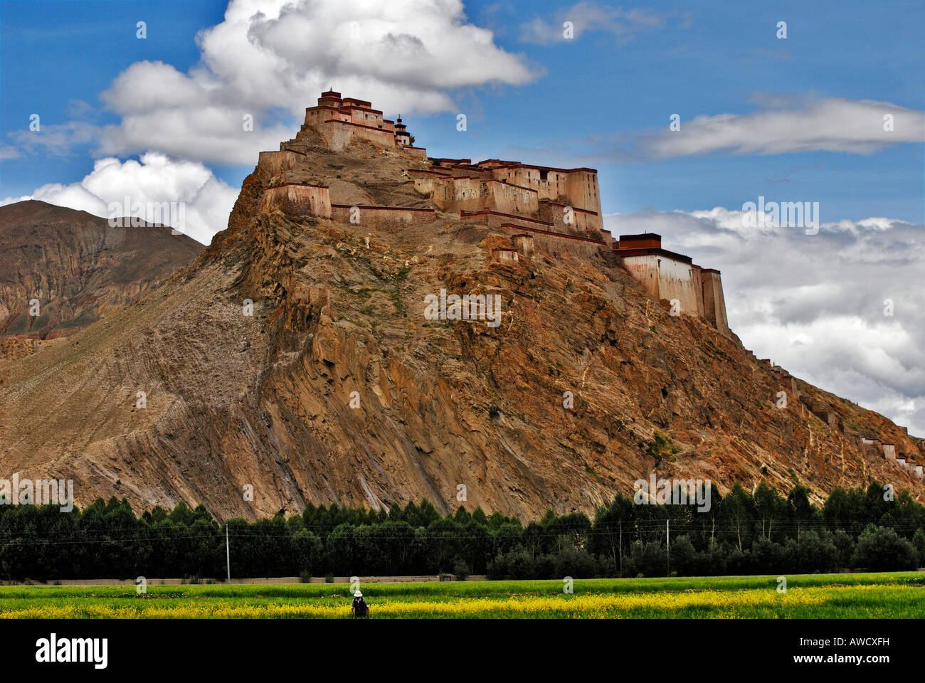 Dzong fortress, Gyantse, Tibet - Stock Image
