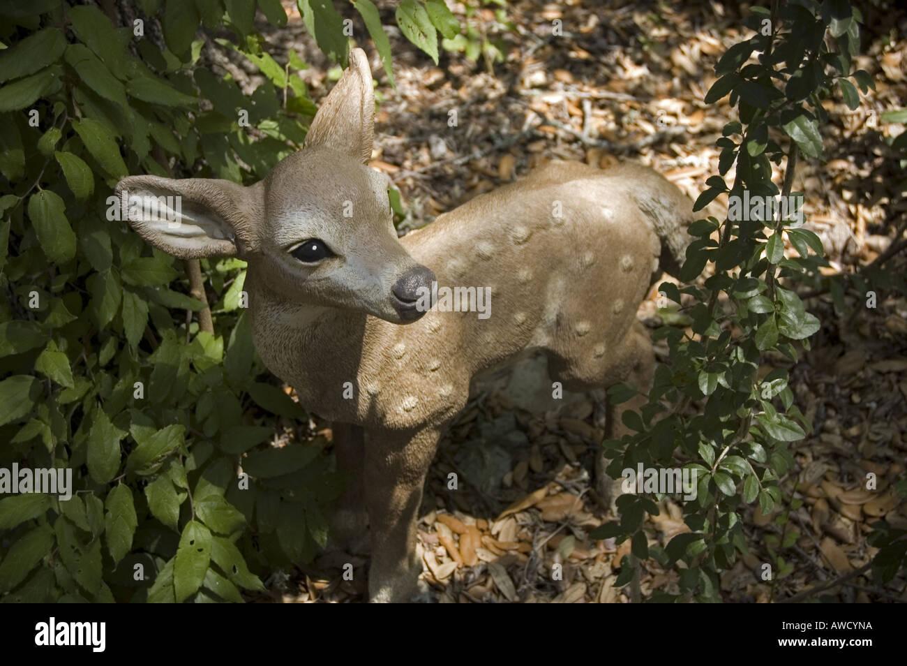 Deer Garden Statue   Stock Image