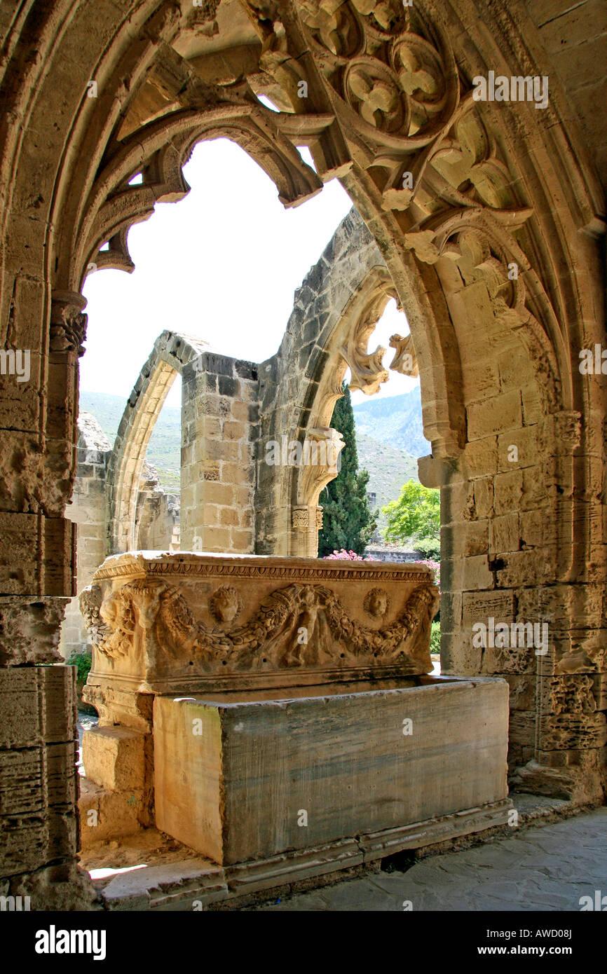 Bellapais Abbey, Kyrenia, Northern Cyprus, Europe - Stock Image