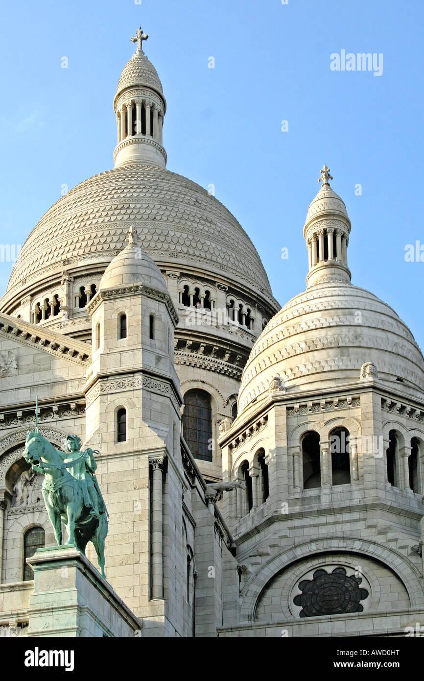 Sacré-Coeur Basilica, Paris, France, Europe Stock Photo