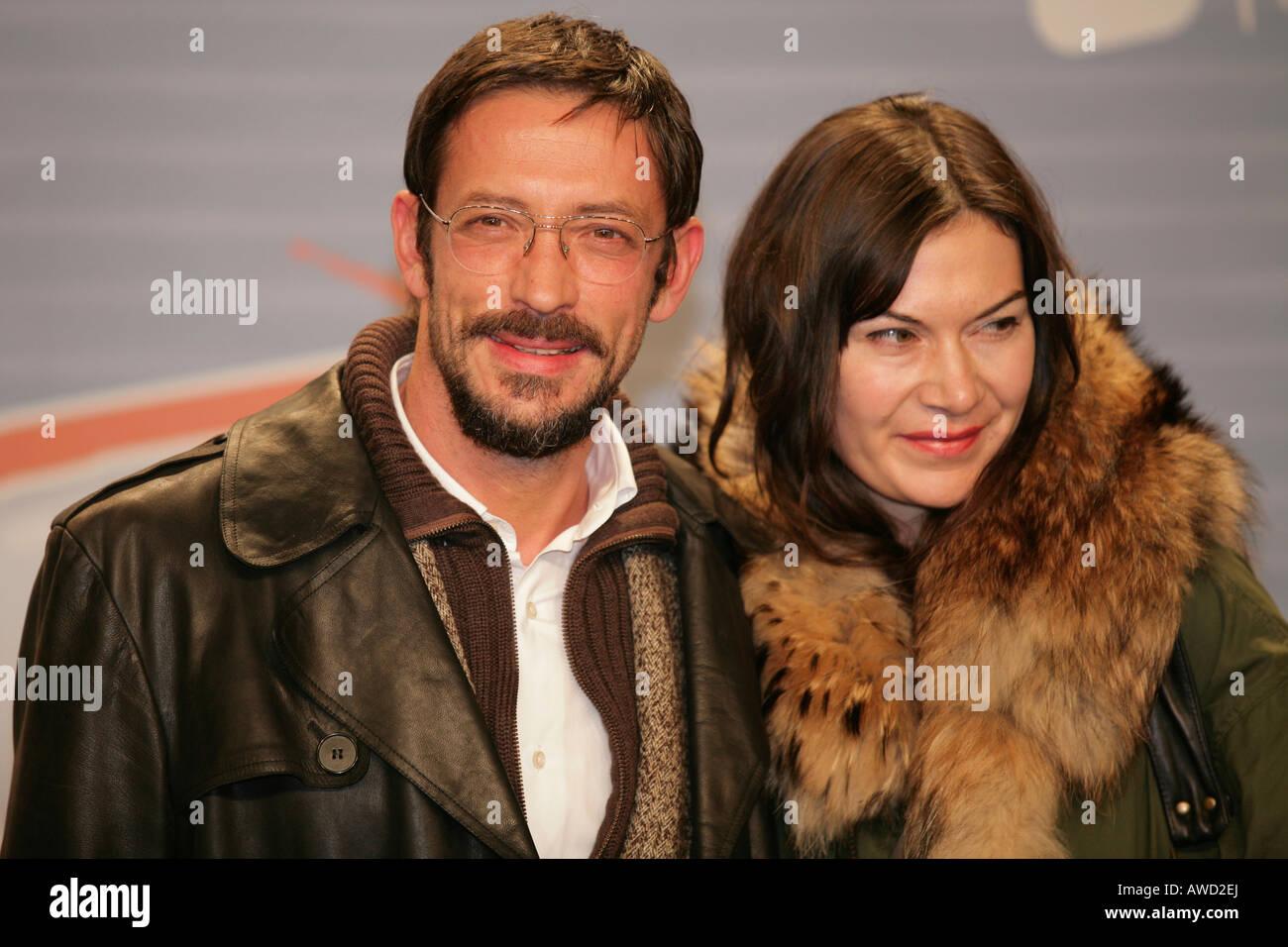 "Oskar Roehler and Alexandra Fischer-Roehler, opening night of the movie ""Free Rainer - dein Fernseher luegt"" by director Hans W Stock Photo"
