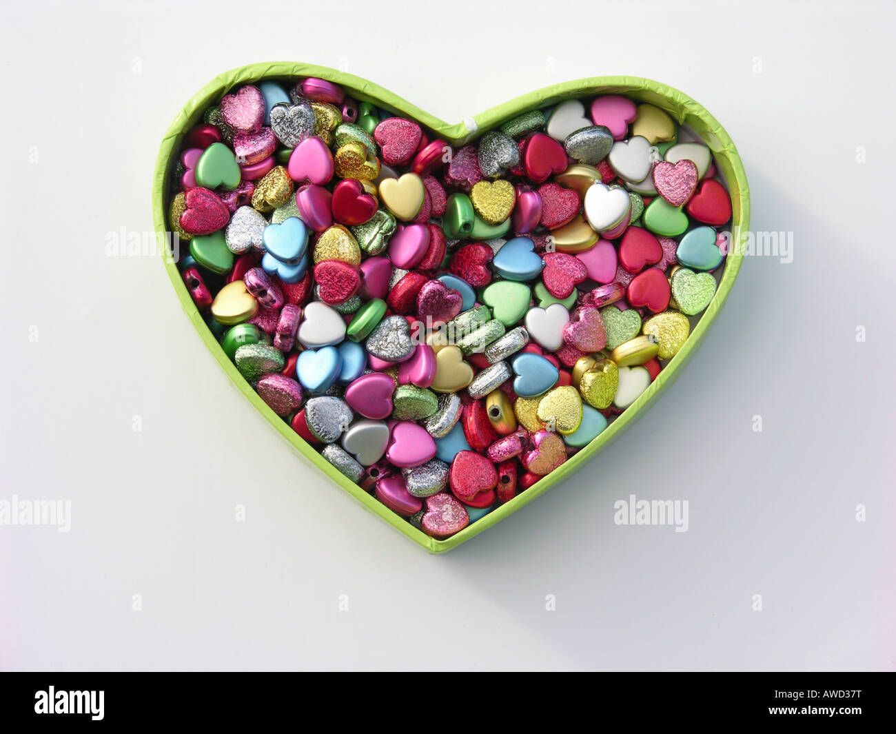 Pearls, heart-shaped - Stock Image