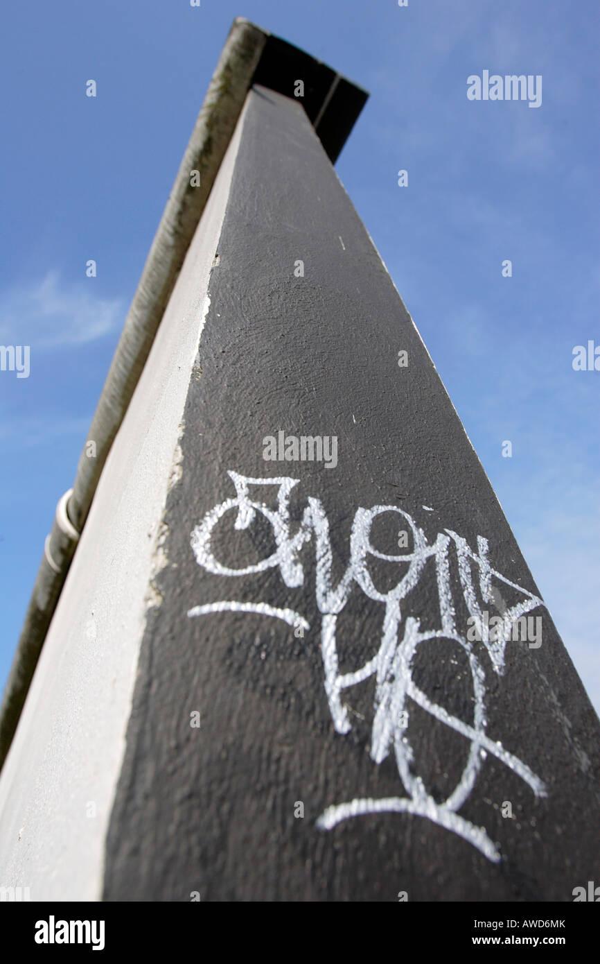Graffiti on the Berlin Wall, Germany, Europe - Stock Image