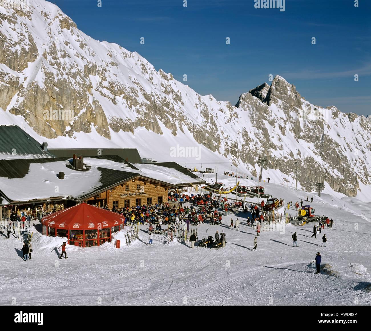 Sonn Alpin, Zugspitze, Germany's highest mountain, Wetterstein Range, Werdenfels Region, Upper Bavaria, Bavaria, - Stock Image