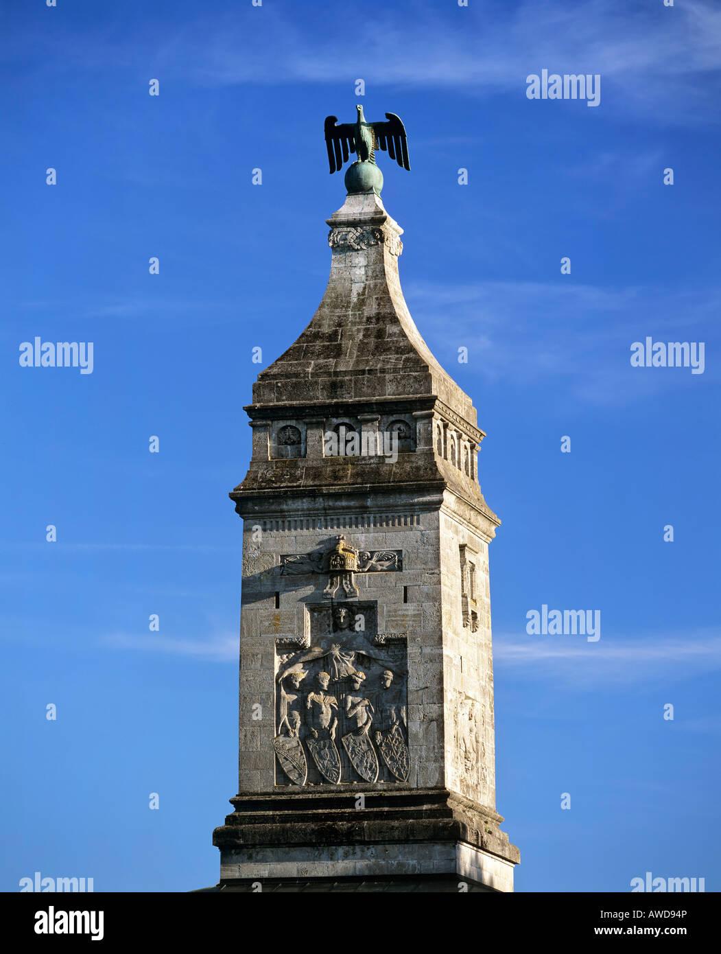 Bismarck memorial near Berg - Assenhausen at Lake Starnberg, Upper Bavaria, Germany Stock Photo