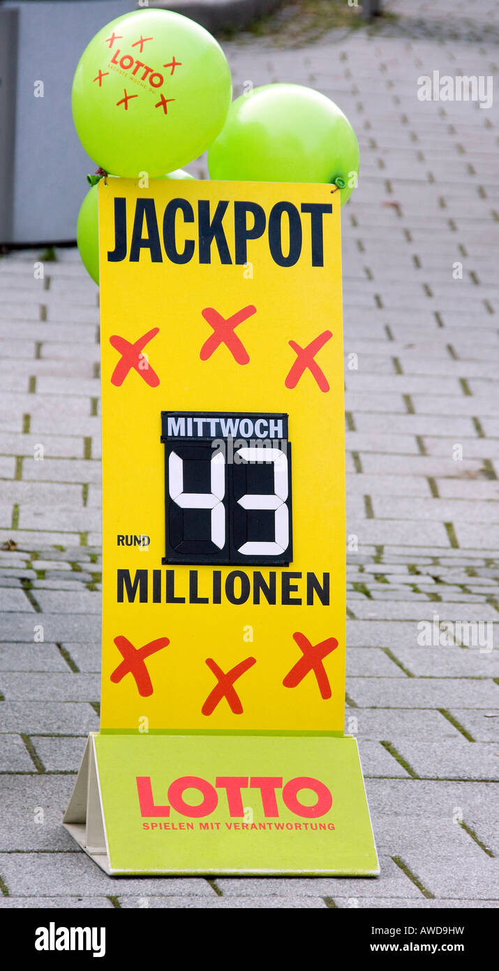 The biggest German lottery jackpot - Stock Image