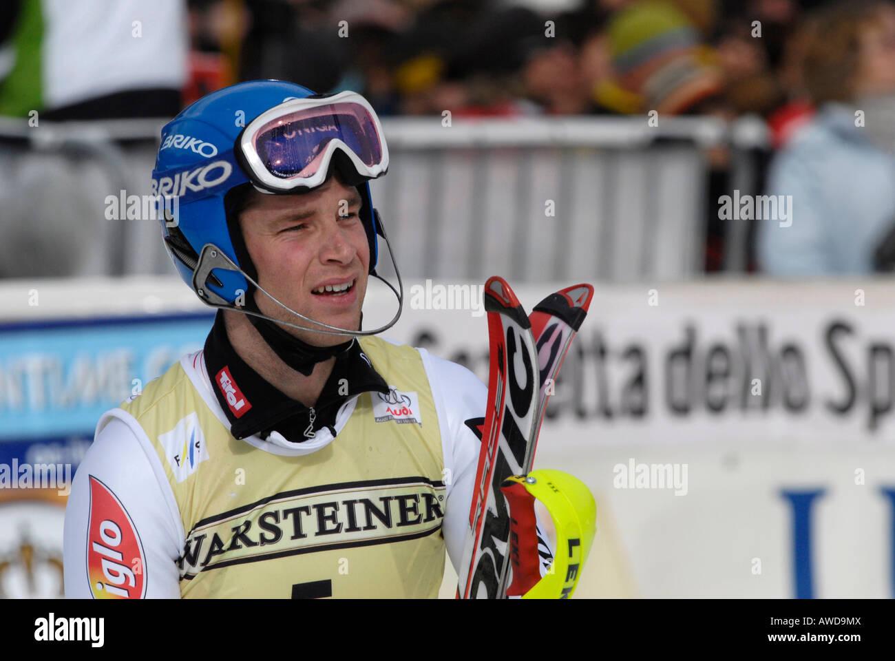 Benjamin Raich, Austria, FIS Ski Worldcup, Garmisch-Partenkirchen, Bavaria, Germany - Stock Image
