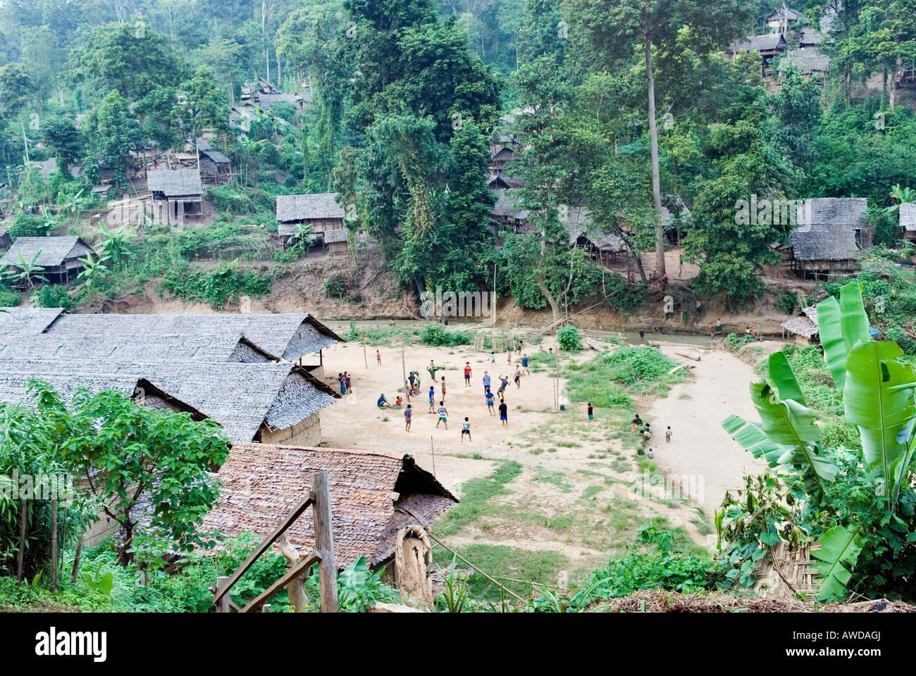 Refugee camp Ei Tu Hta, IDP-Area bordering Thailand near Mae Sariang, Birma Stock Photo
