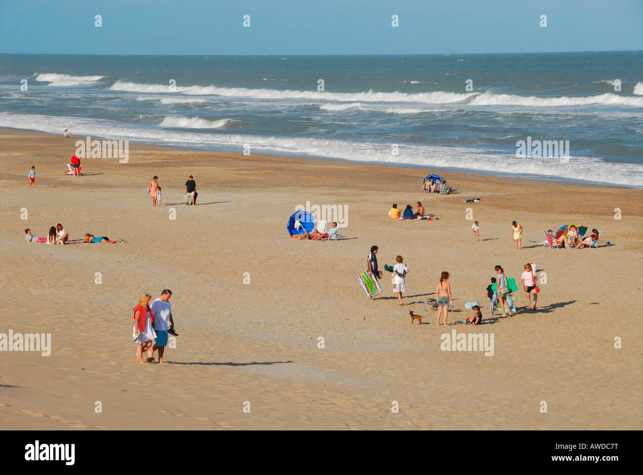 Beach of Mar de las Pampas, Buenos Aires province, Argentina - Stock Image