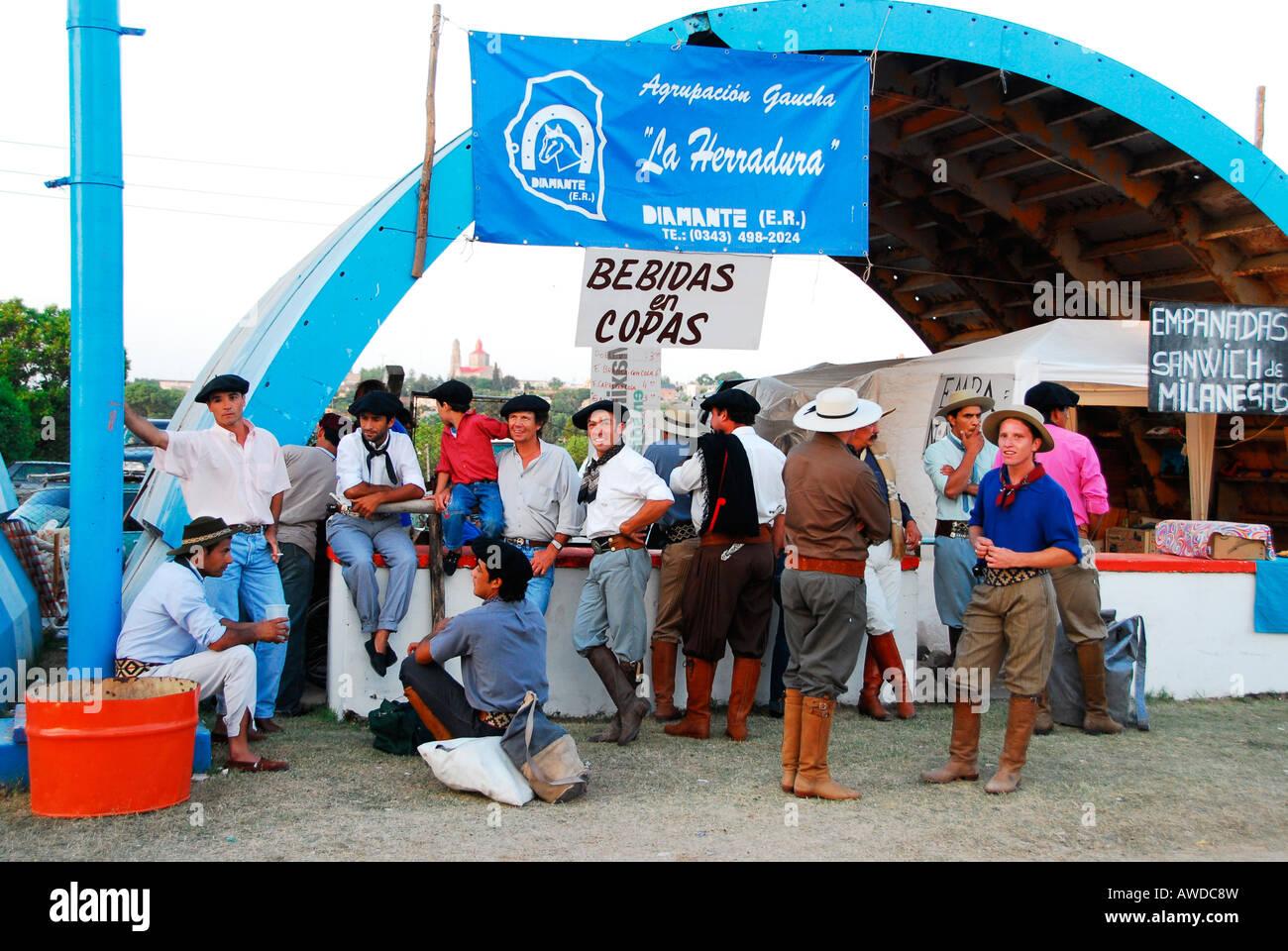 Gauchos, Diamante, Entre Ríos province, Argentina - Stock Image