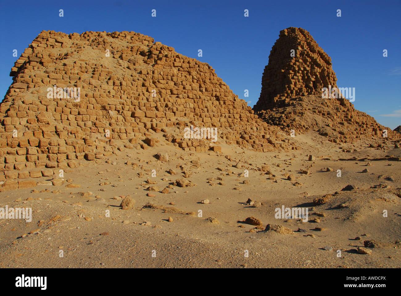Pyramids, Nuri, Sudan, Africa Stock Photo