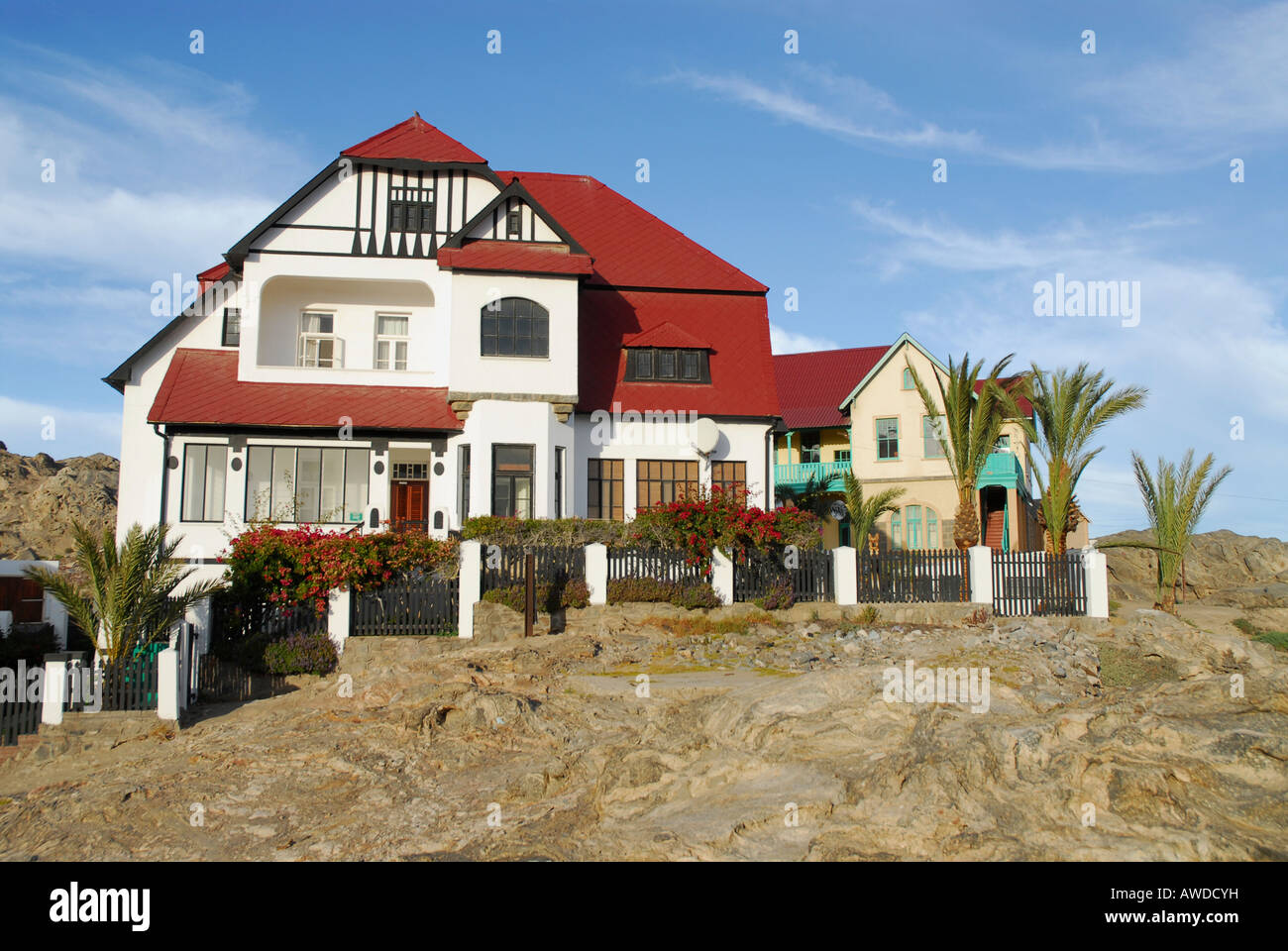 Historic German Colonial Houses In Luederitz Namibia Africa