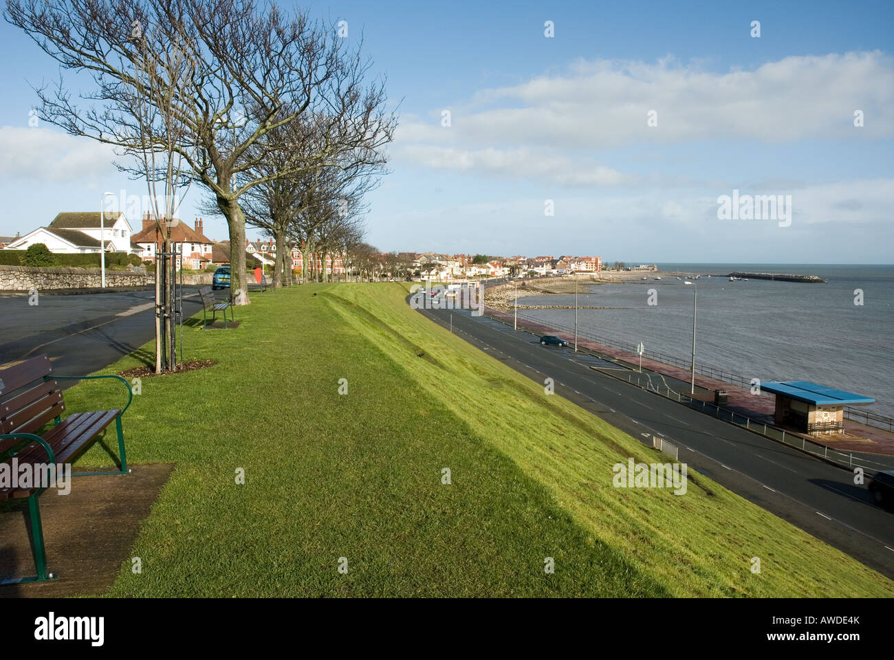 Colwyn Bay promenade North Wales - Stock Image