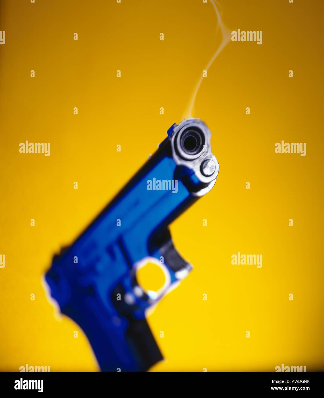 Smoking gun - Stock Image
