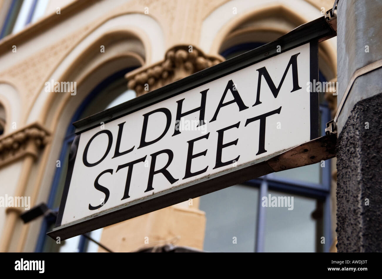 Sign For Oldham Street, Manchester - Stock Image