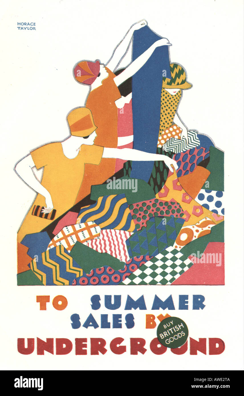 London Underground poster by Horace Taylor circa 1925 Stock Photo