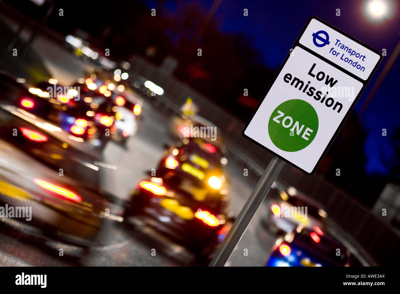 LEZ Low emission Zone London - Stock Image