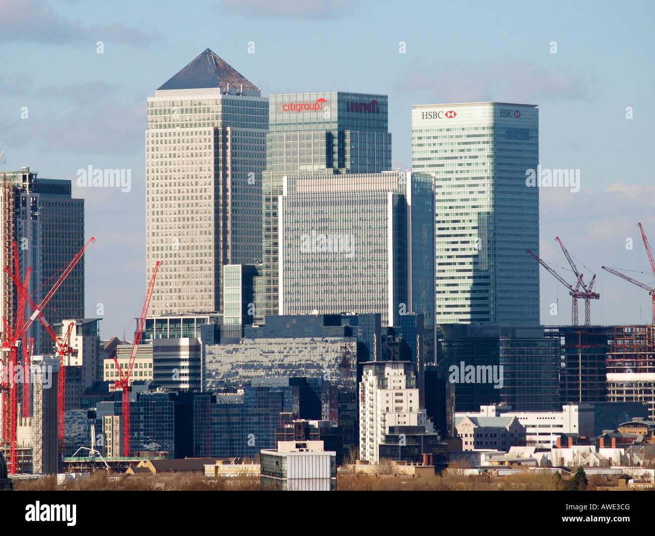 Canary Wharf London England - Stock Image