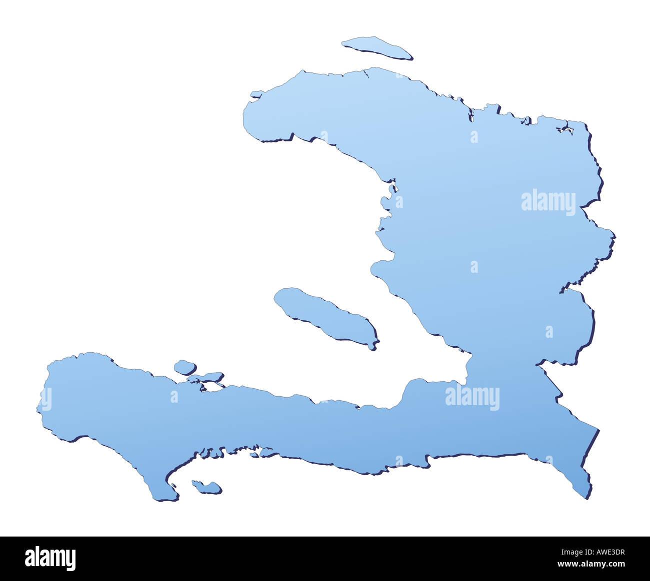 Haiti map stock photos haiti map stock images alamy haiti map stock image gumiabroncs Images