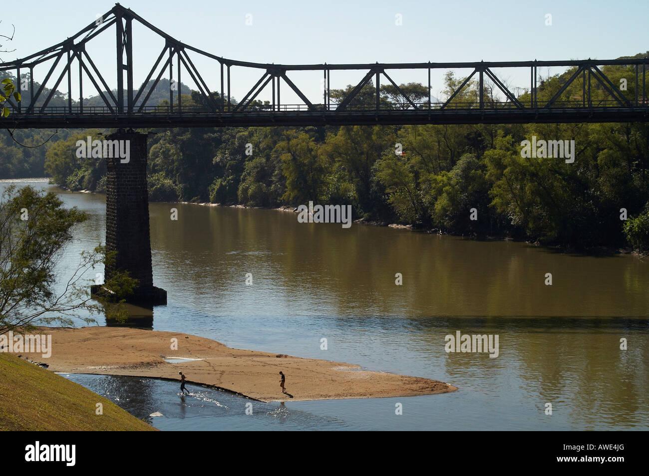 Steel girder bridge Stock Photo