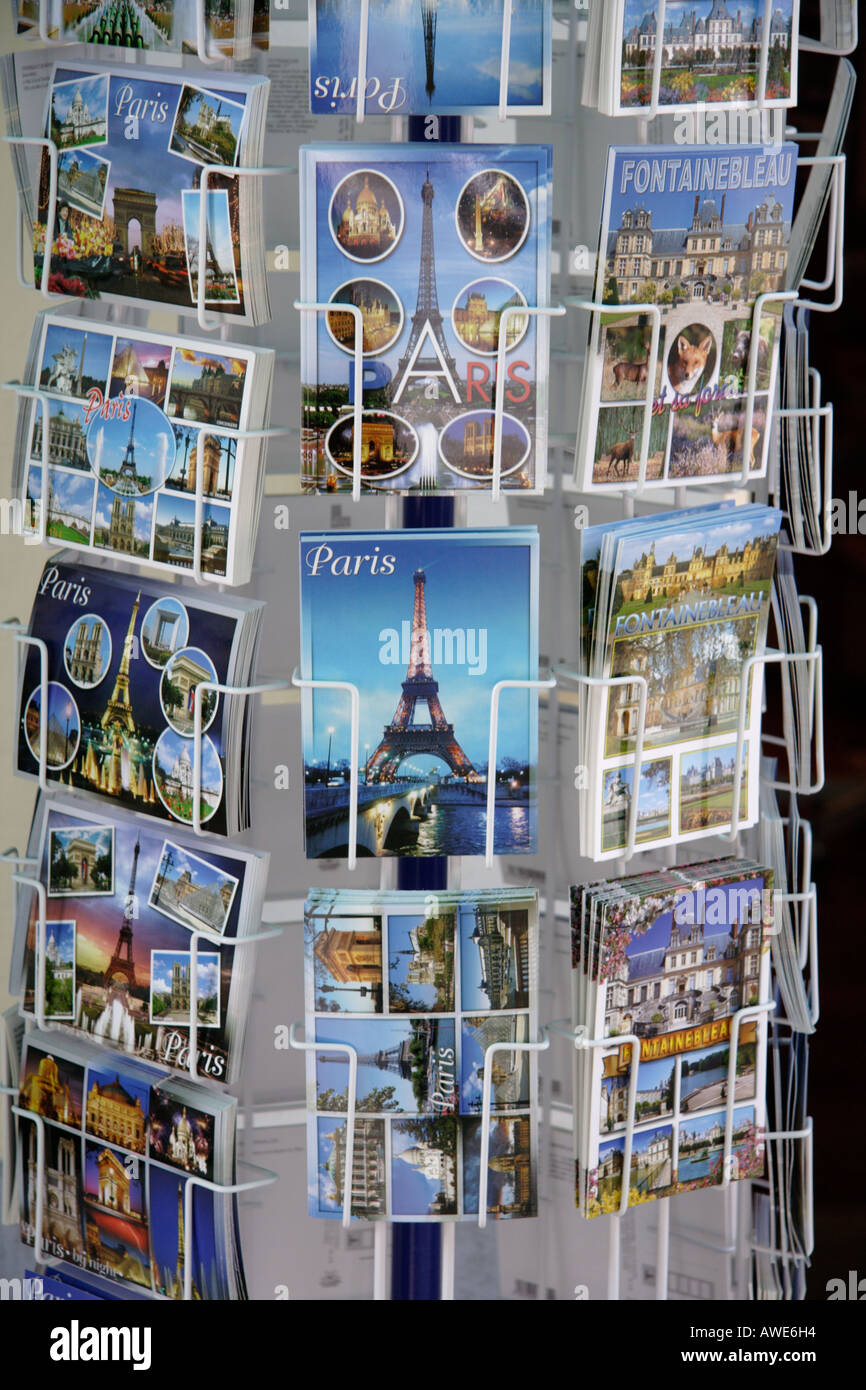 Postcards from Paris - Stock Image