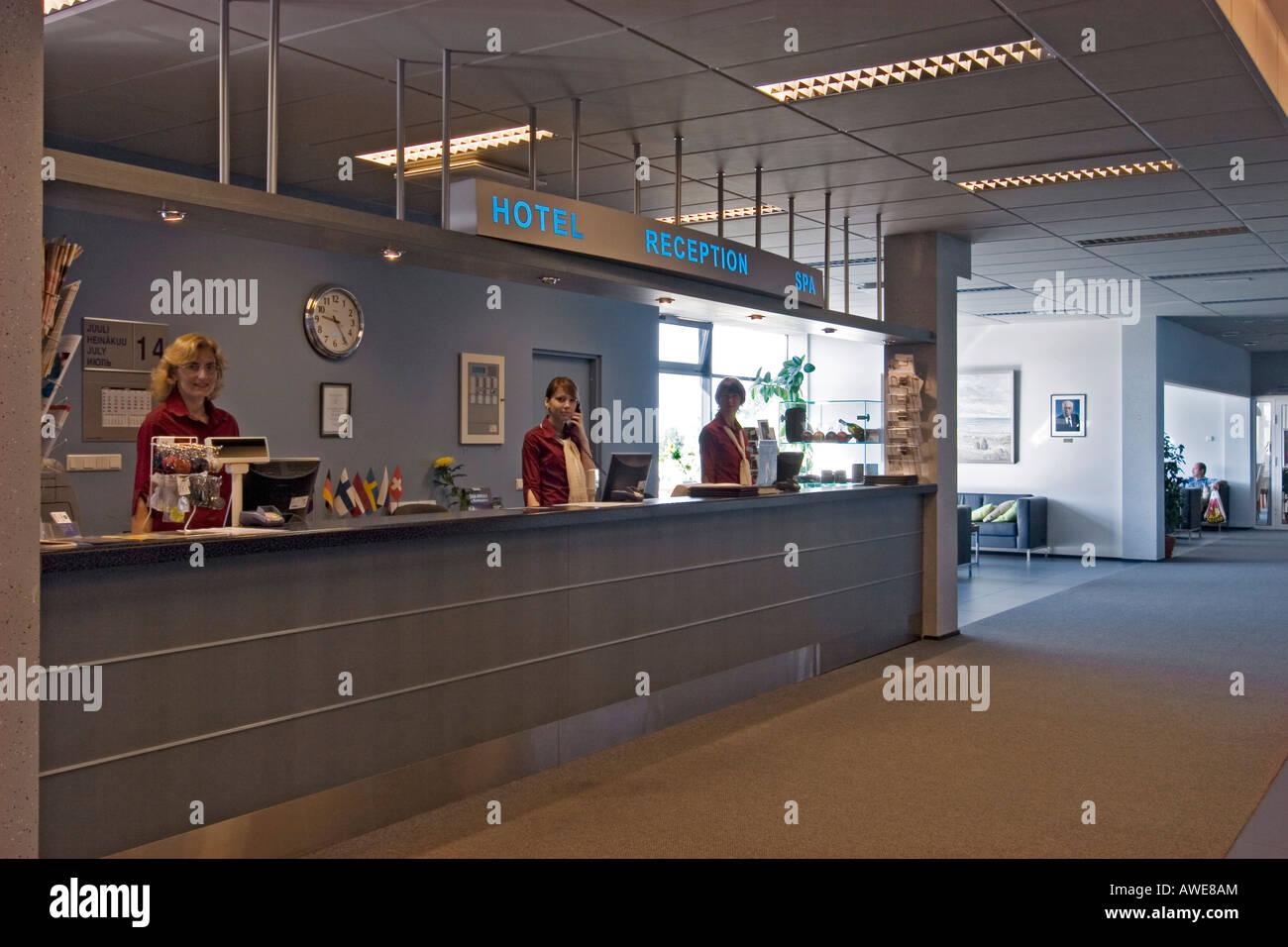 Lobby, Hotel Meri, Kuressaare, Saaremaa Island, Estonia, Europe Stock Photo