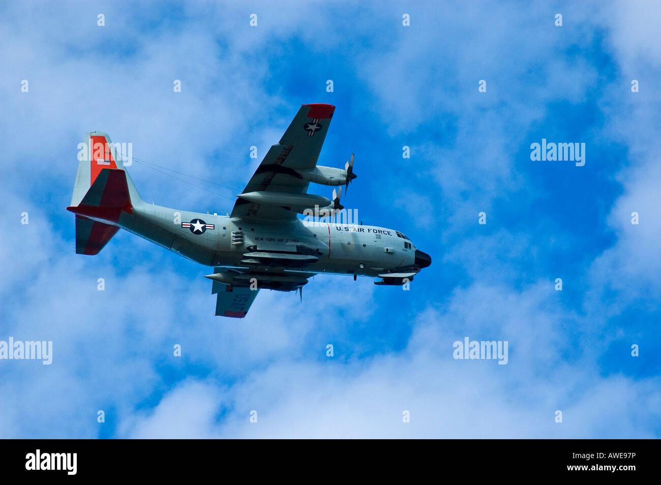 Military plane, US Air Force water plane - Stock Image