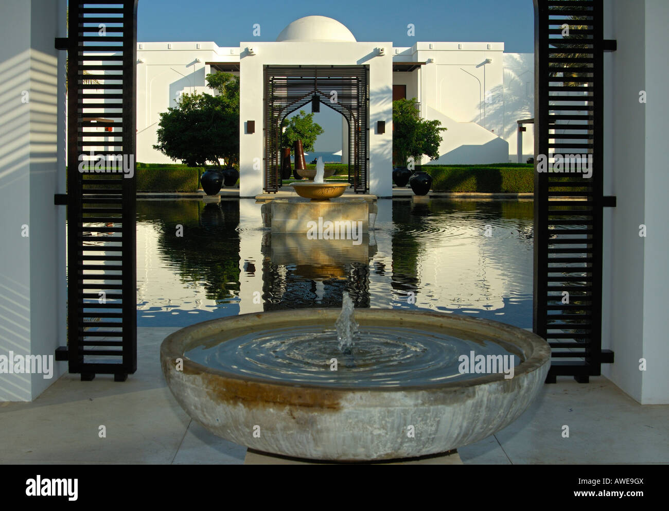 The Chedi Hotel Muscat Sultanate Of Oman Stock Photo Alamy
