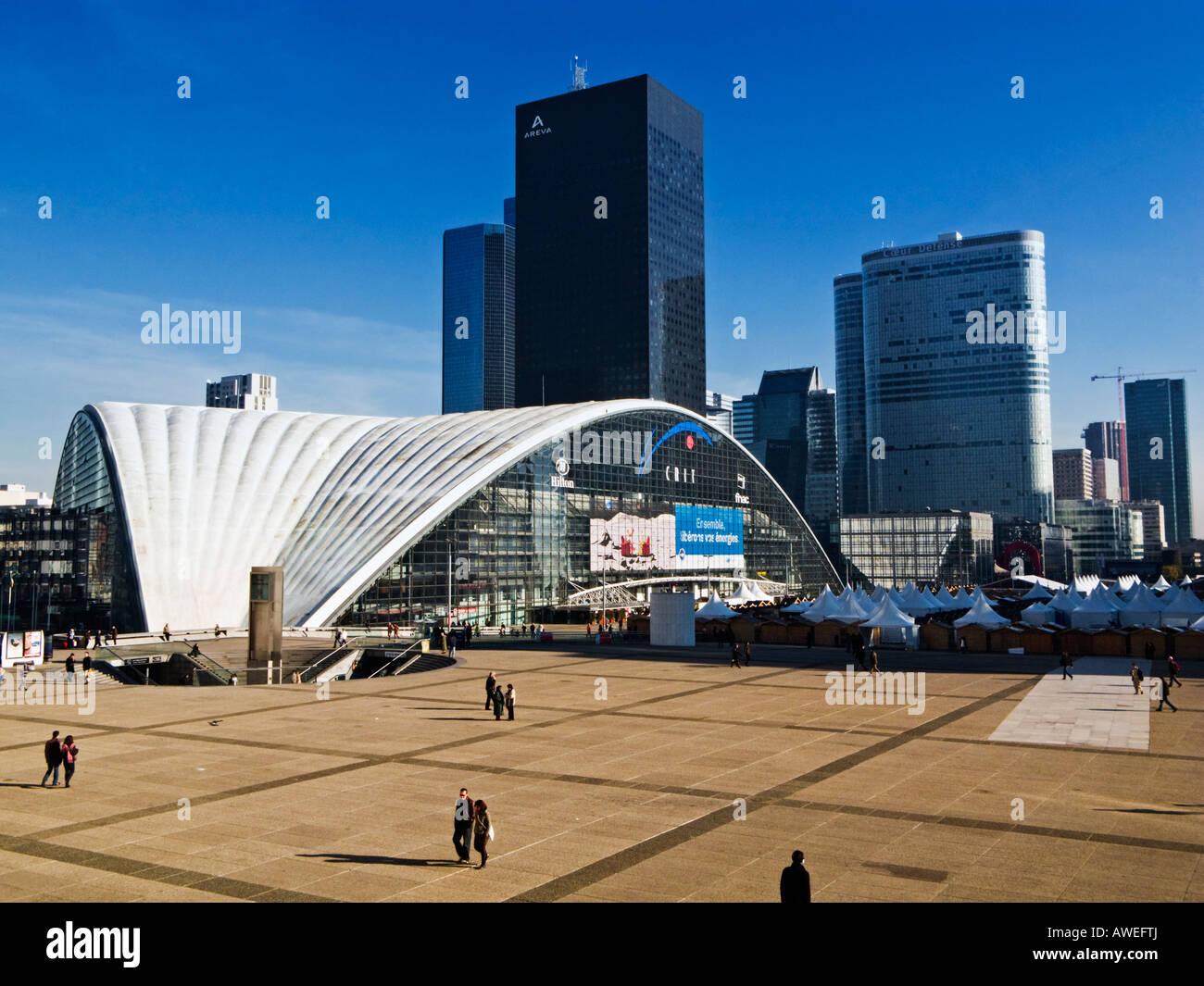 Business district of La Defense, Paris, France - Stock Image