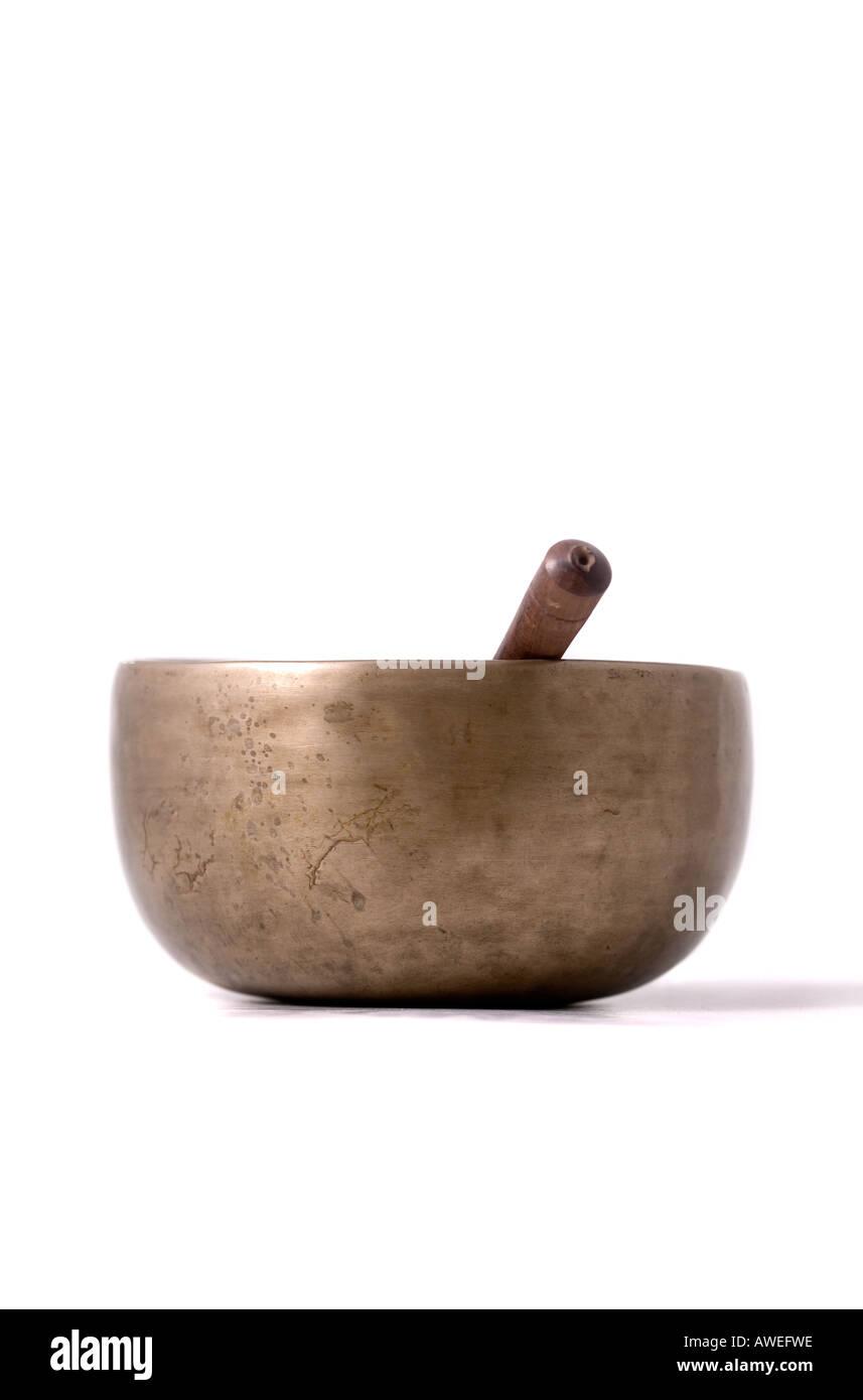 Tibetan Prayer Bowl - Stock Image