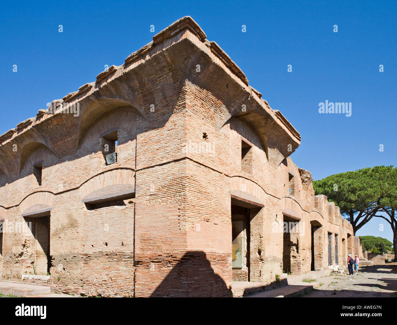 Casa di Diana, multi-story house at Ostia Antica archaeological site, Rome, Italy, Europe - Stock Image