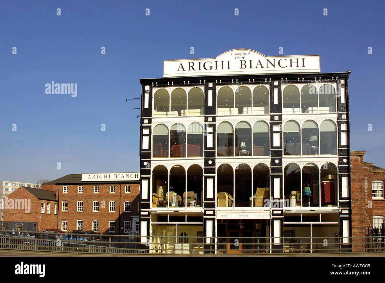 England Cheshire Macclesfield Arighi Bianchi Victorian shop - Stock Image