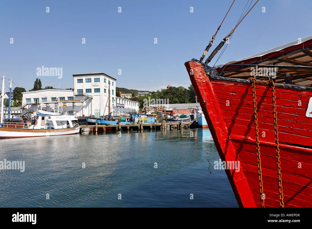 Sassnitz Harbour, Ruegen, Germany, Europe Stock Photo