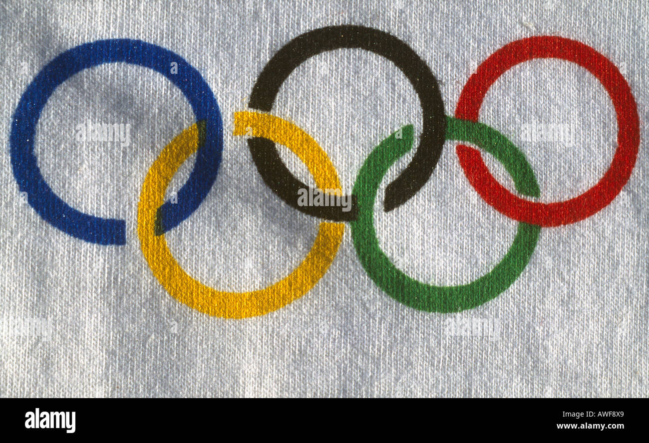 Athens 2004 Olympic Symbol Stock Photo