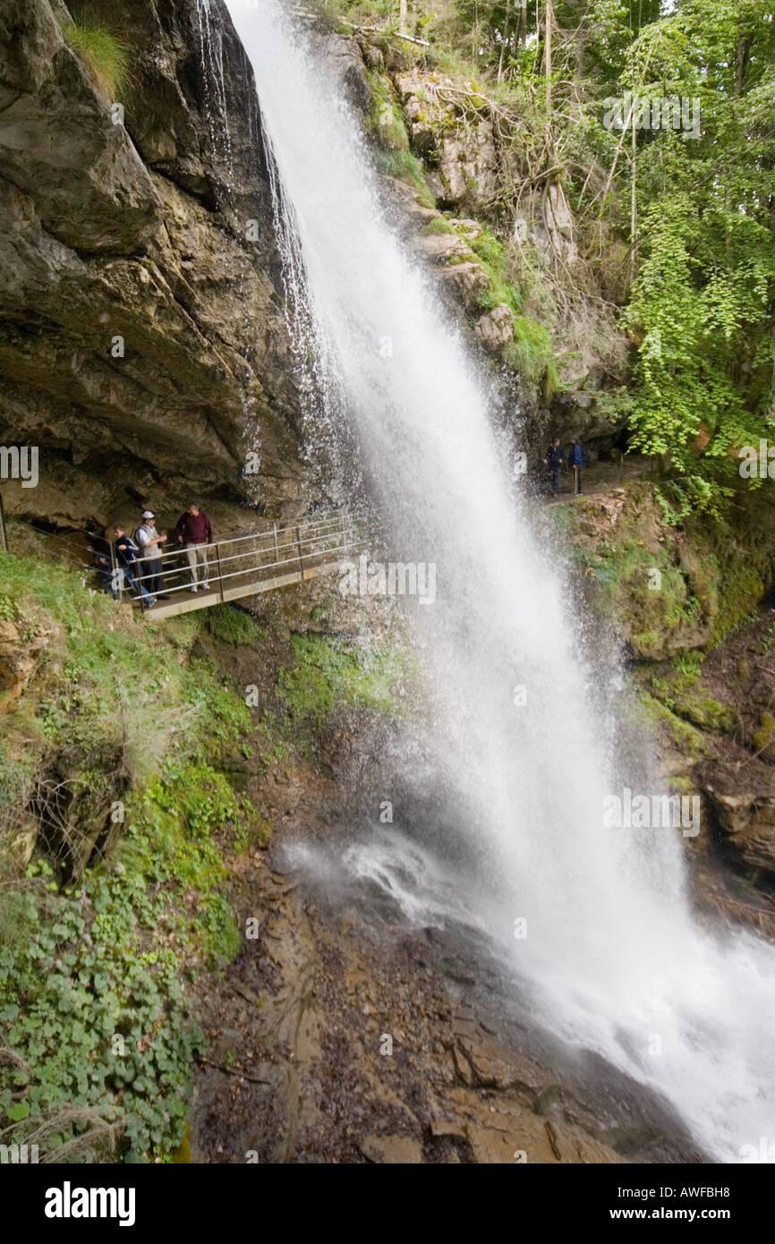 Giessbach falls near Brienz, Switzerland Stock Photo
